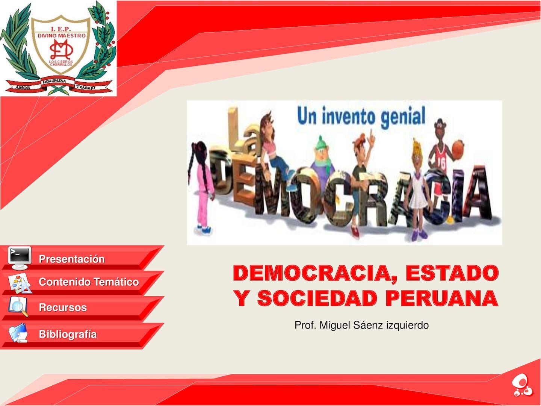 Calaméo - Democracia, Estado Y Sociedad Peruana