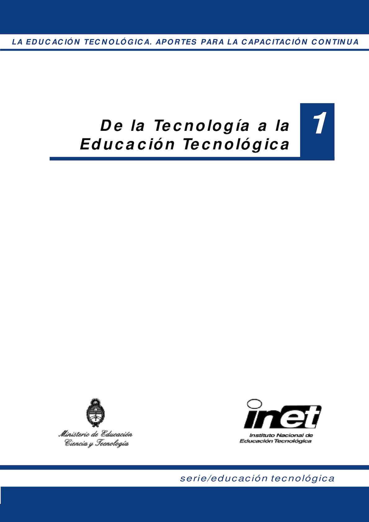 Calaméo - De La Tecnología A La Educación Tecnológica