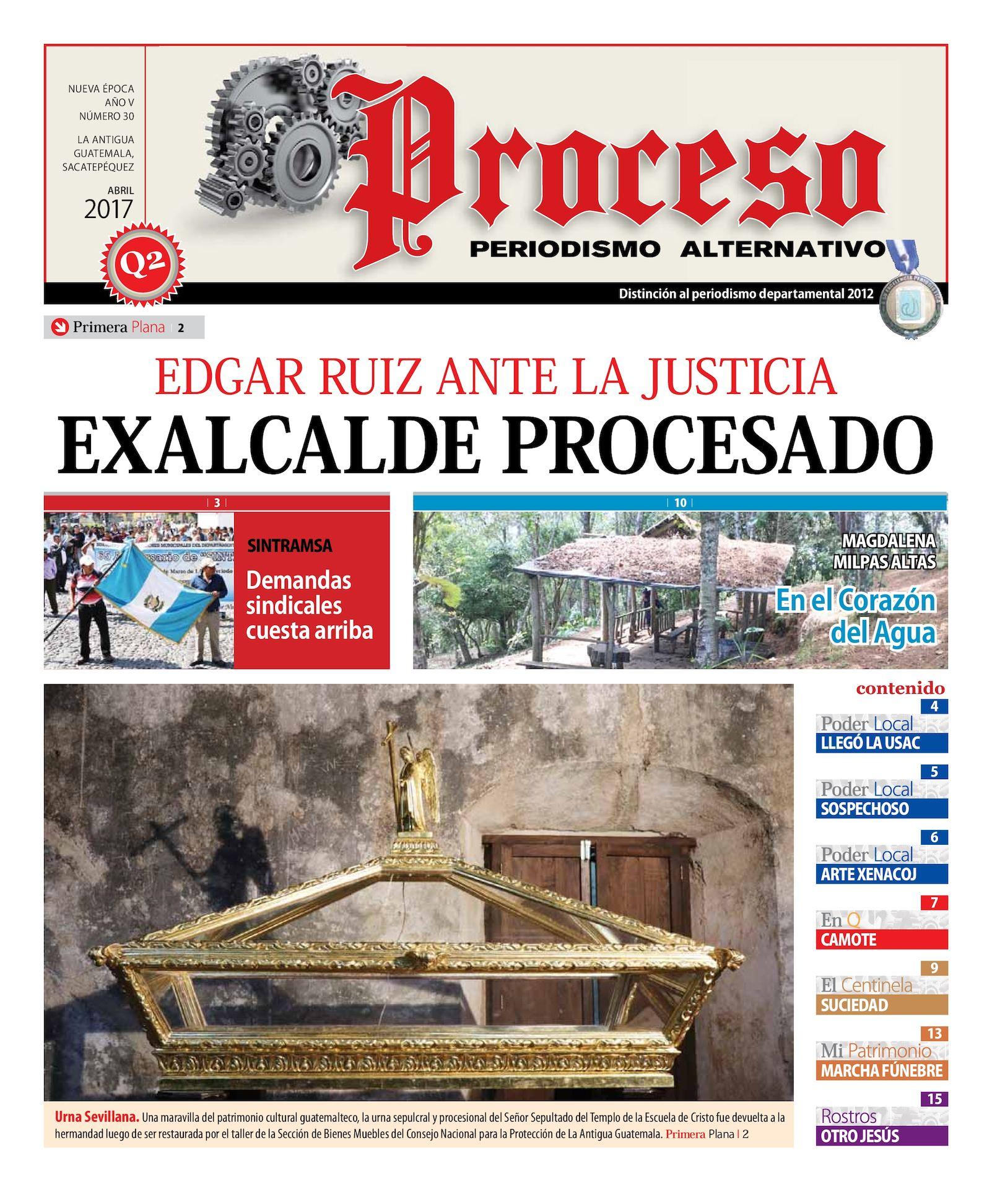 Calaméo - PROCESO. EDICIÓN #30, ABRIL 2017