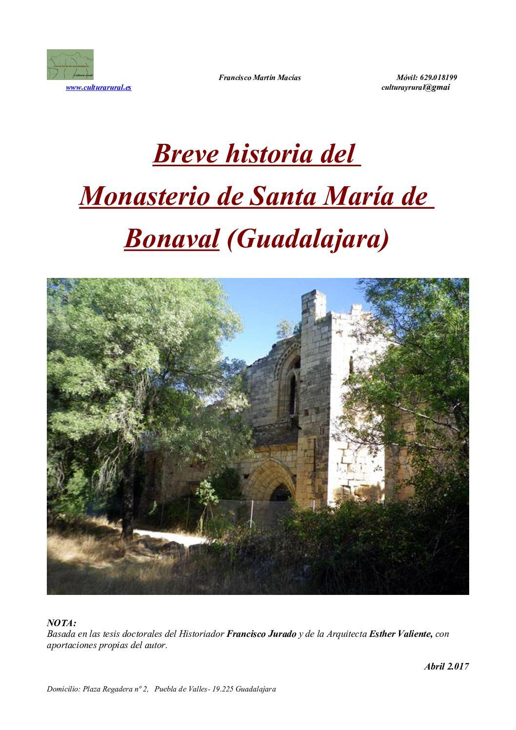 Breve Historia del Monasterio de Bonaval