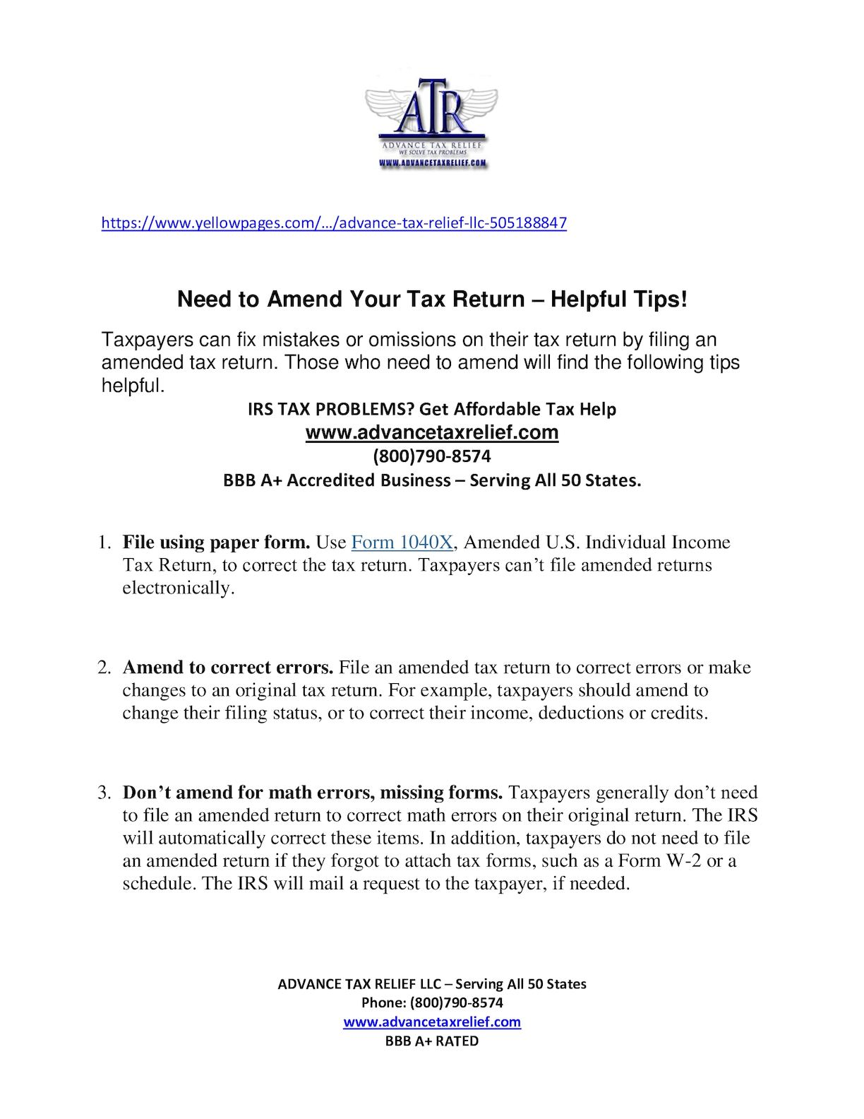 Calaméo - Need to Amend Your Tax Return – Helpful Tips!