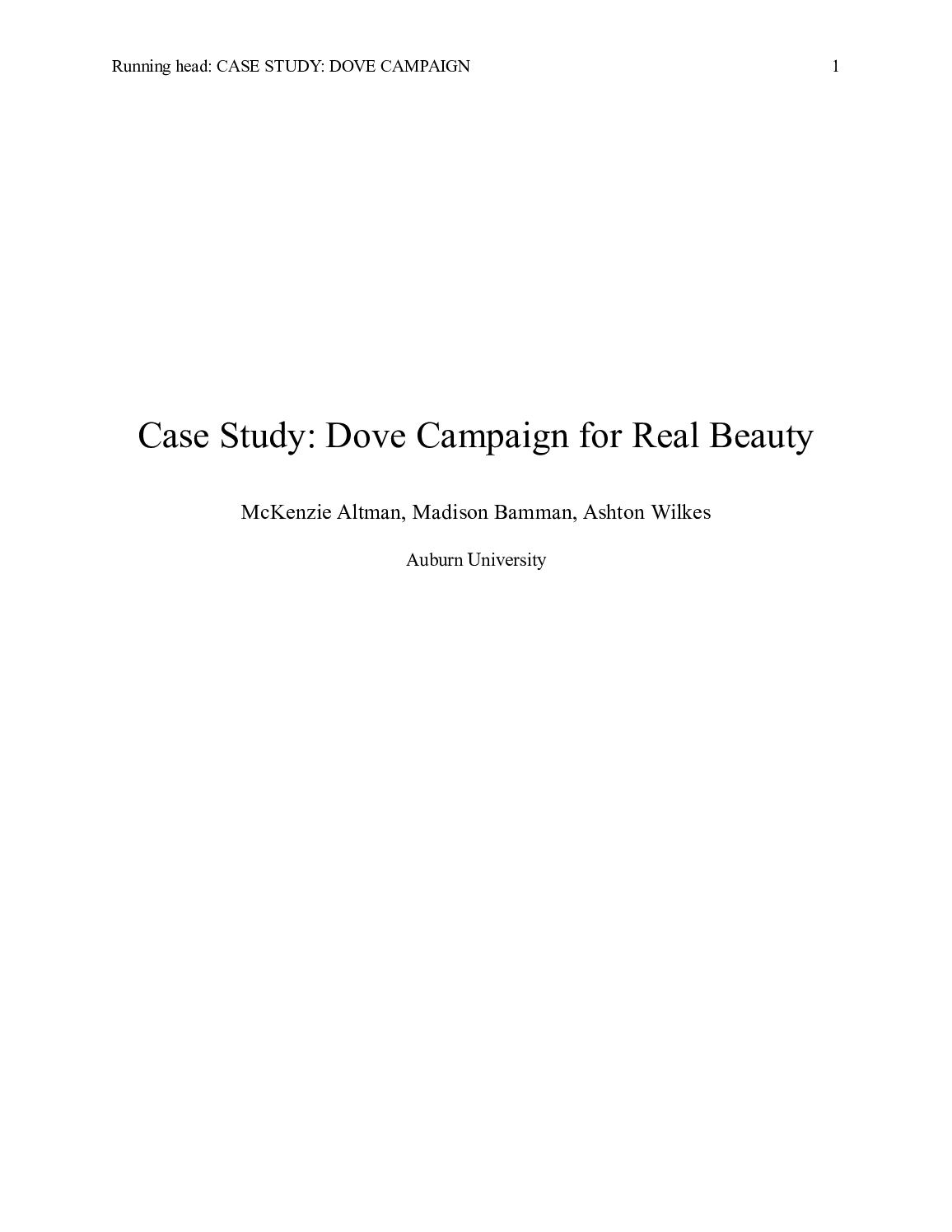 dove real beauty campaign case study