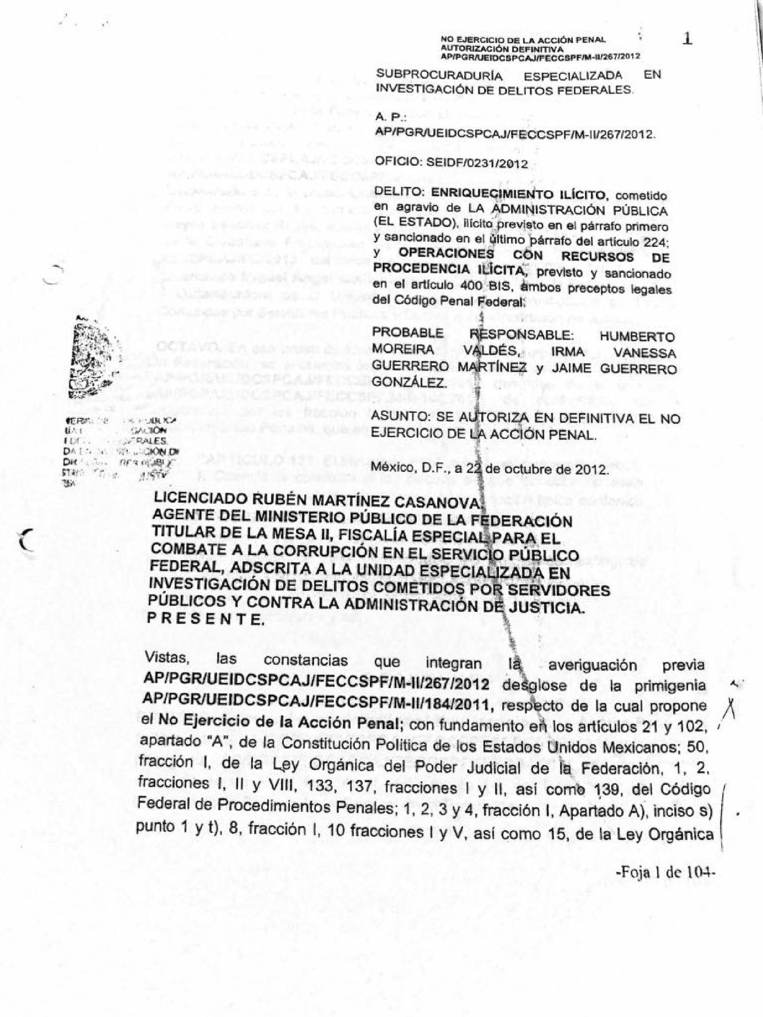 Exoneracion Humberto Moreira