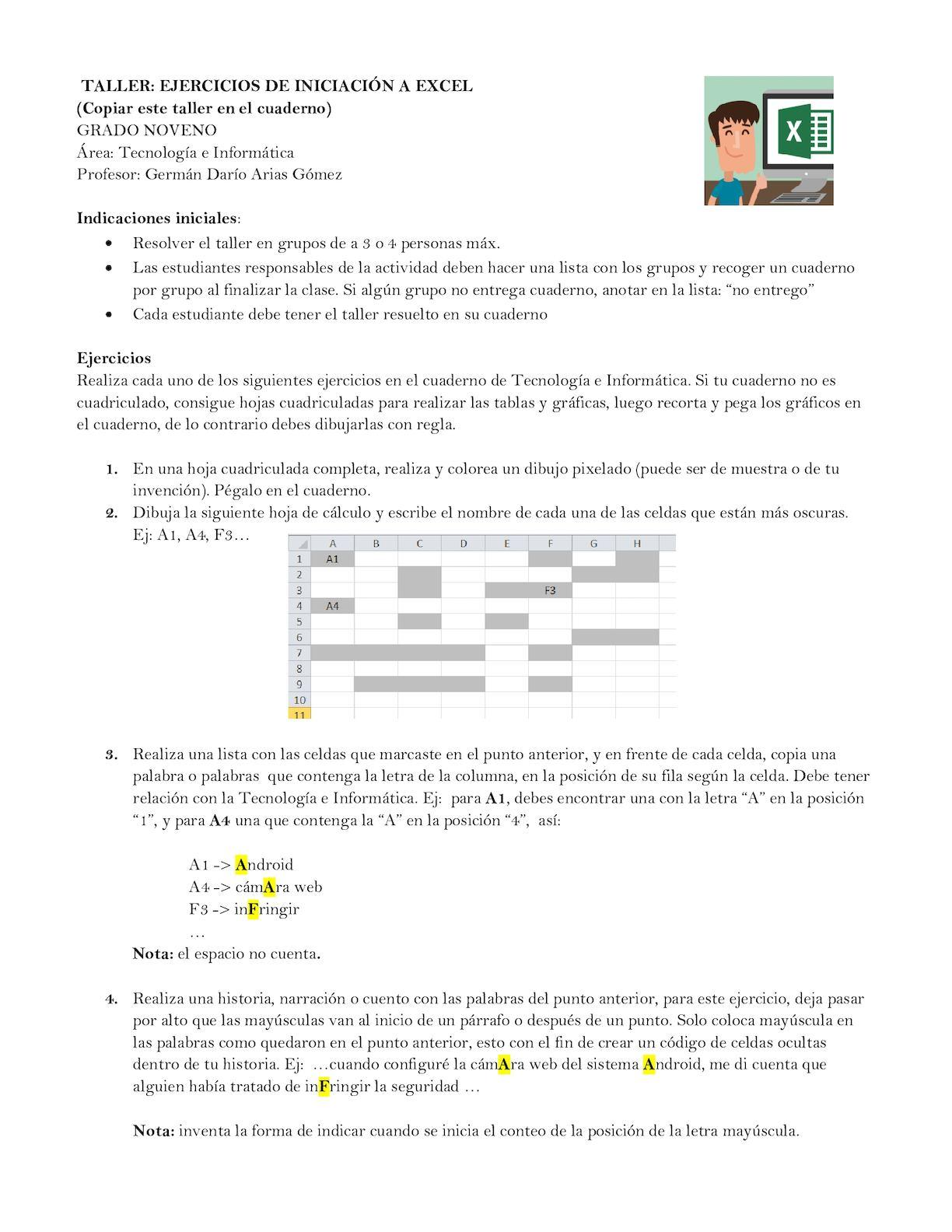 Calaméo - Taller Novenos Excel