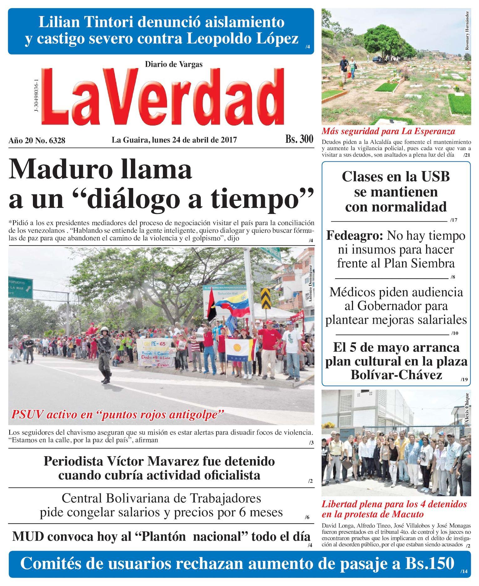 Calaméo - La Guaira. 24 de abril de 2017 Año 20 No. 6328