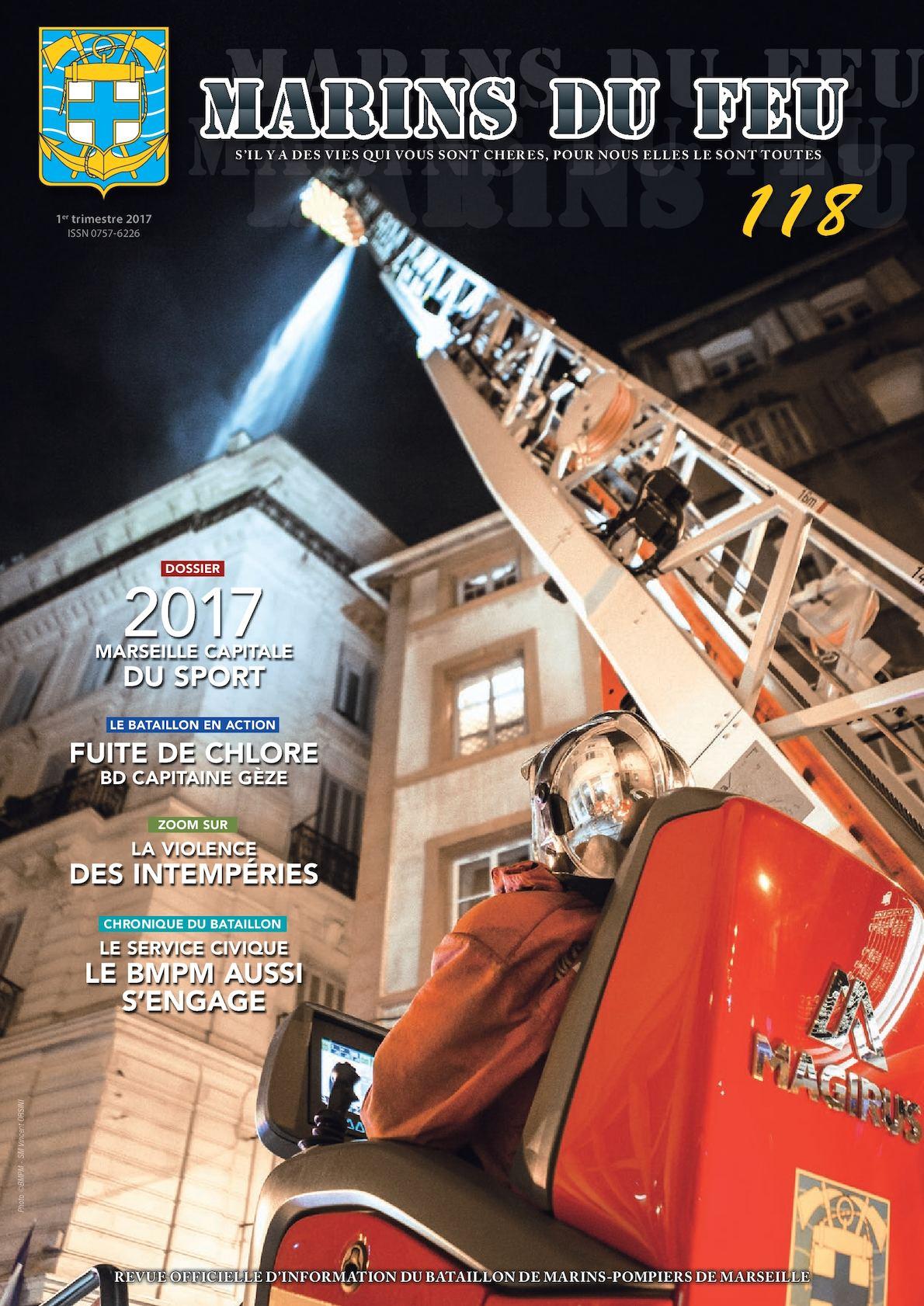 Marins du feu N°118 (avril 2017) Marins-pompiers de Marseille