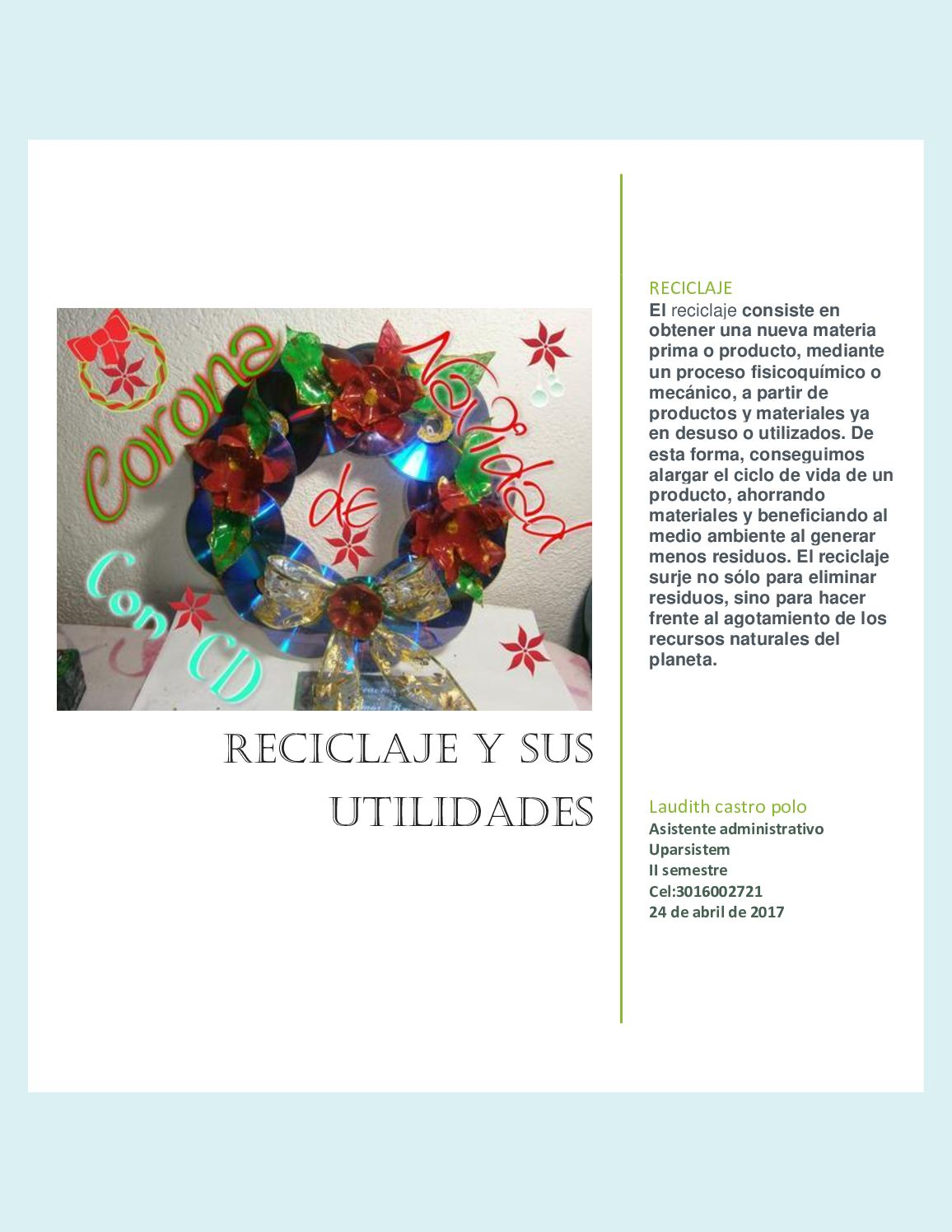 Revista De Manualidades Recicladas