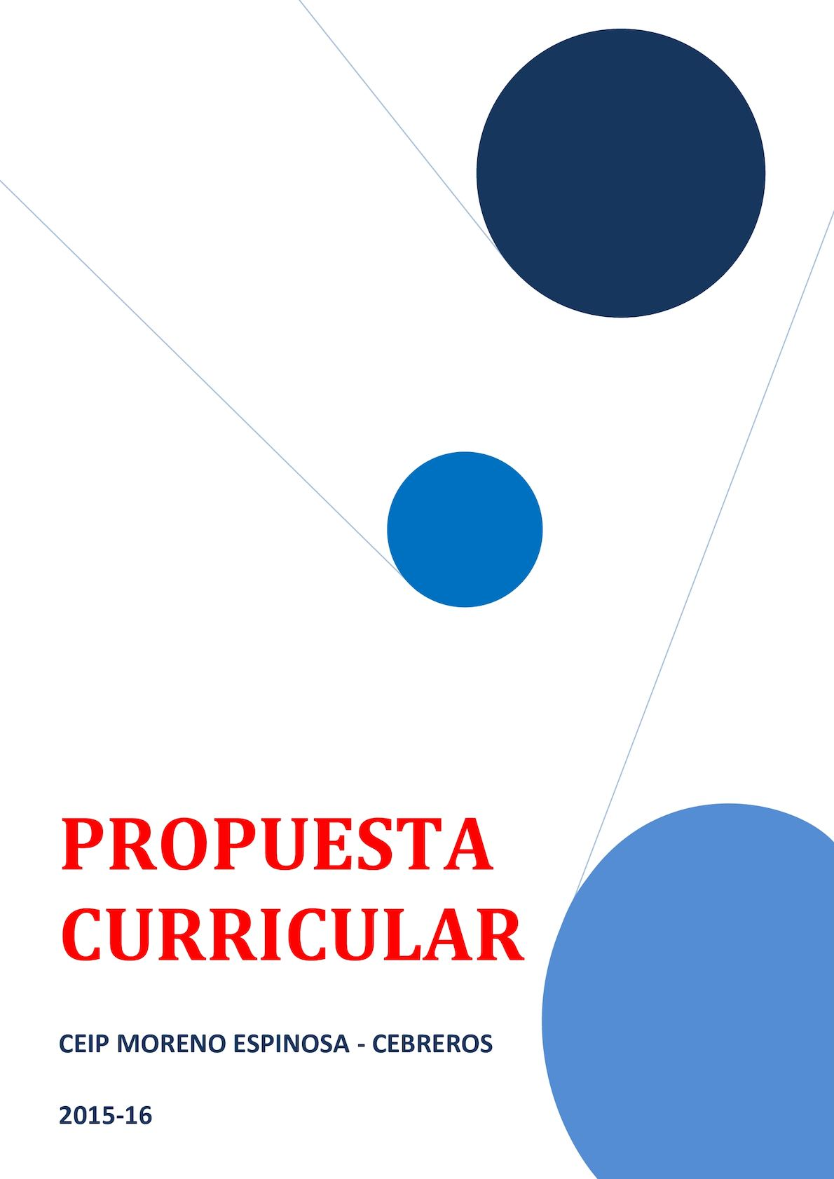 Propuesta Curricular Moreno Espinosa