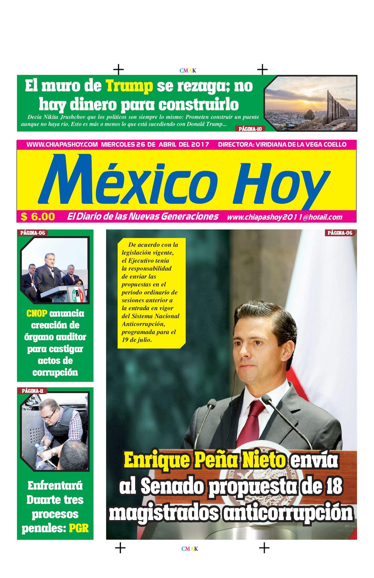 MEXICO HOY 26 DE ABRIL