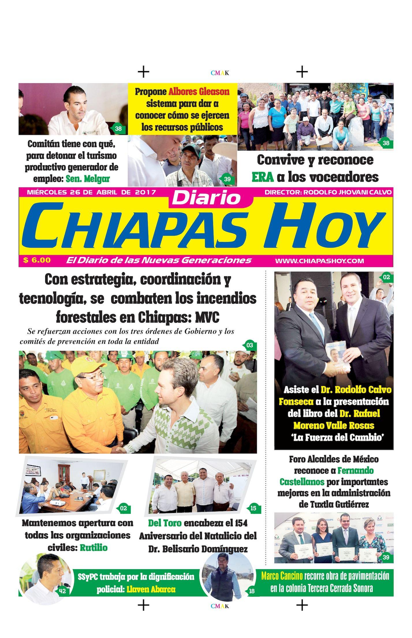Chiapas Hoy 26 De Abril