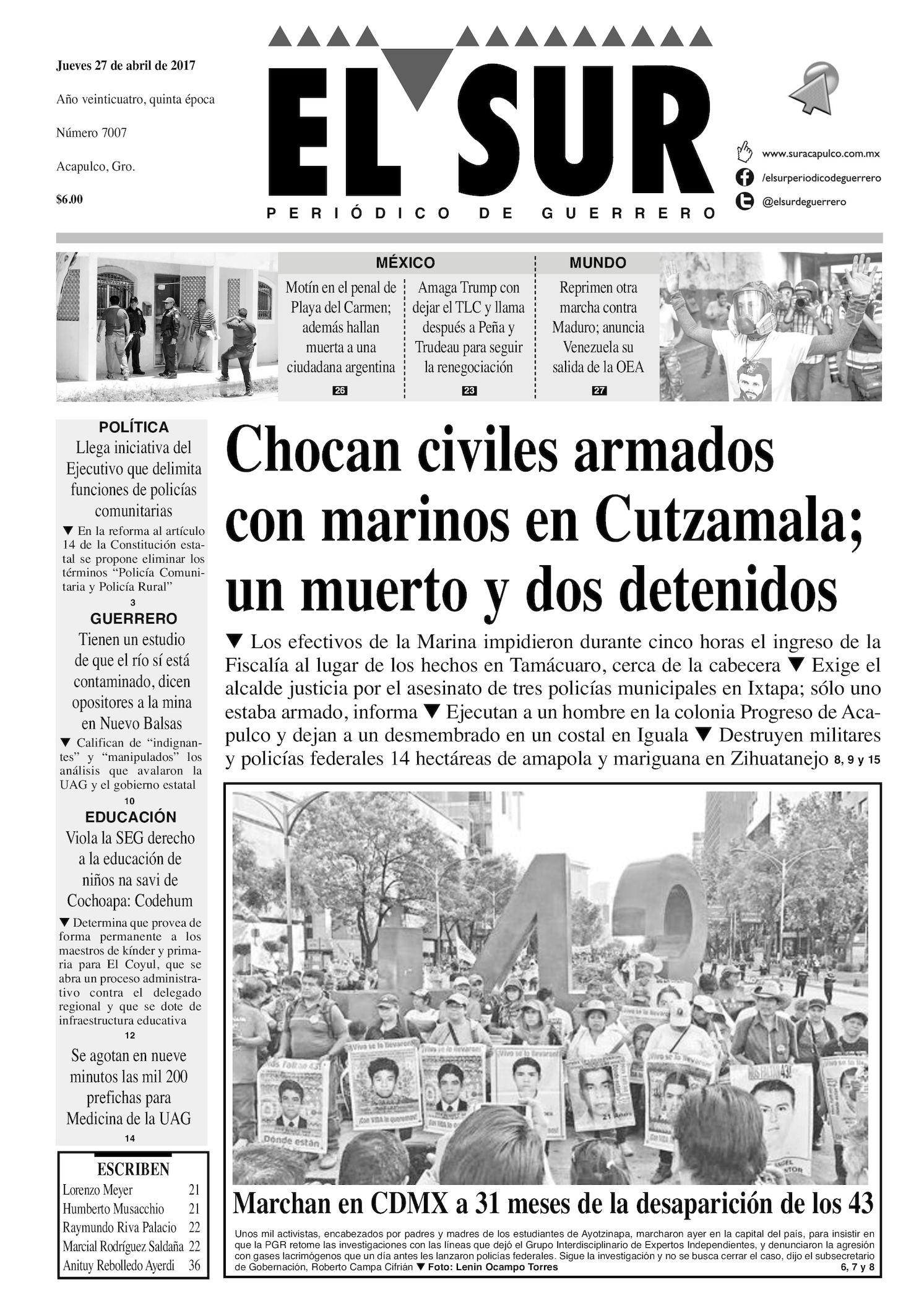 Calaméo - El Sur Jueves 27042017