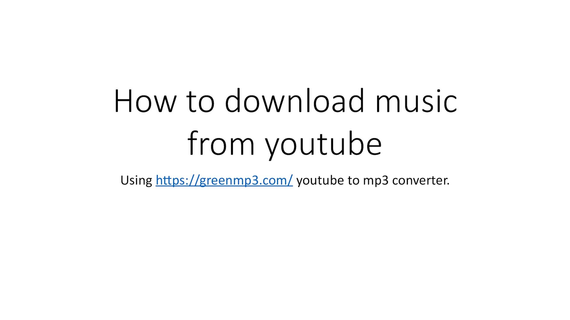 youtube to mp3 greenmp3 com