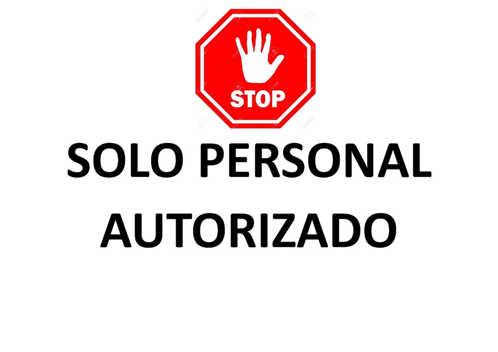 calam o solo personal autorizado