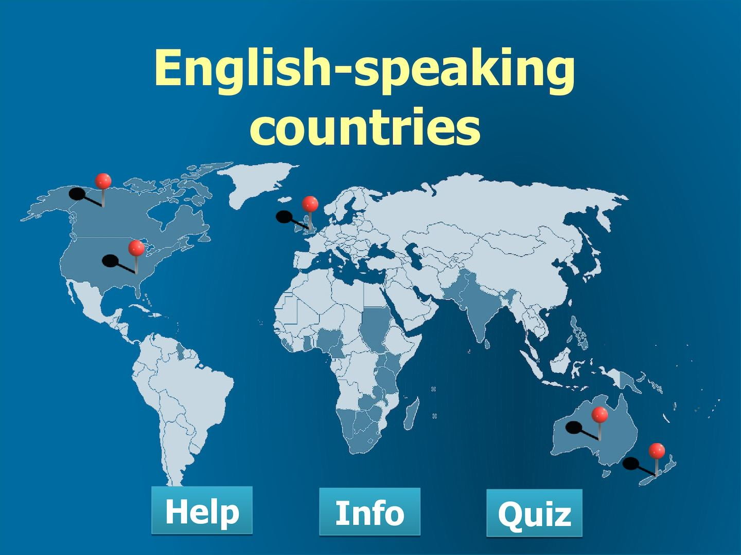 english speaking countries quiz Quizzes on english-speaking read more about australian, australia, zealand, largest, commonwealth and monarch there are six quizzes containing questions and incomplete sentences you are to choose the correct answer from the four alternatives marked a, b, c and d and then write your choice.