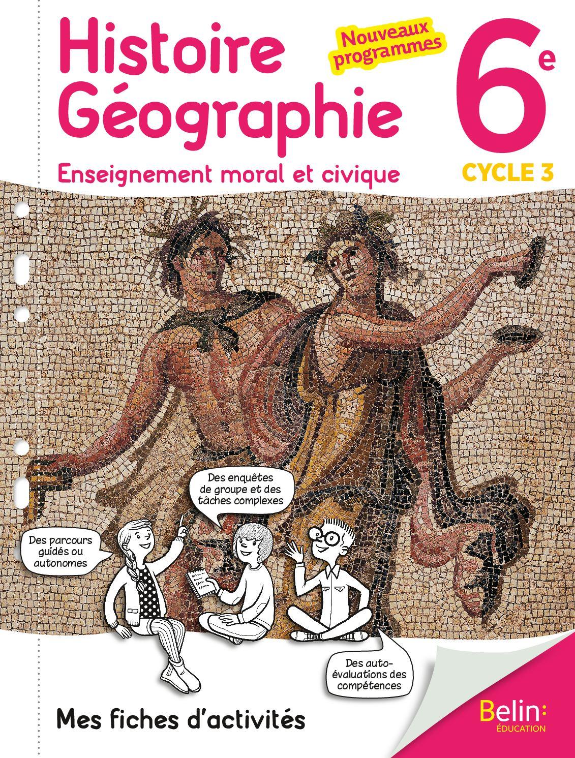 histoire geographie 6e fichier dactivites nord est