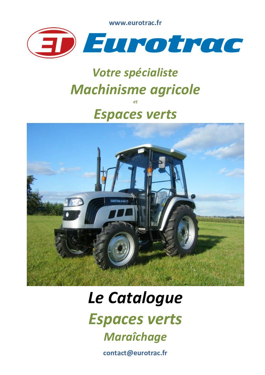 Calam o catalogue espaces verts maraichage eurotrac for Ab espace vert