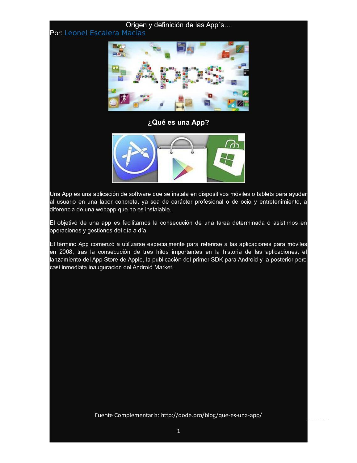 Calaméo - Qué Es Una App