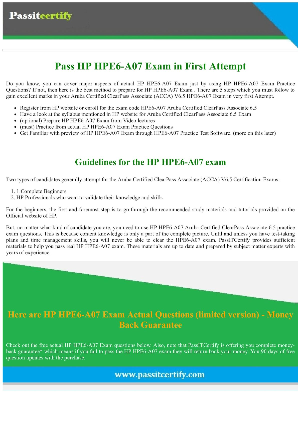 Calamo latest hpe6 a07 dumps hp acca v65 exam questions 1betcityfo Gallery