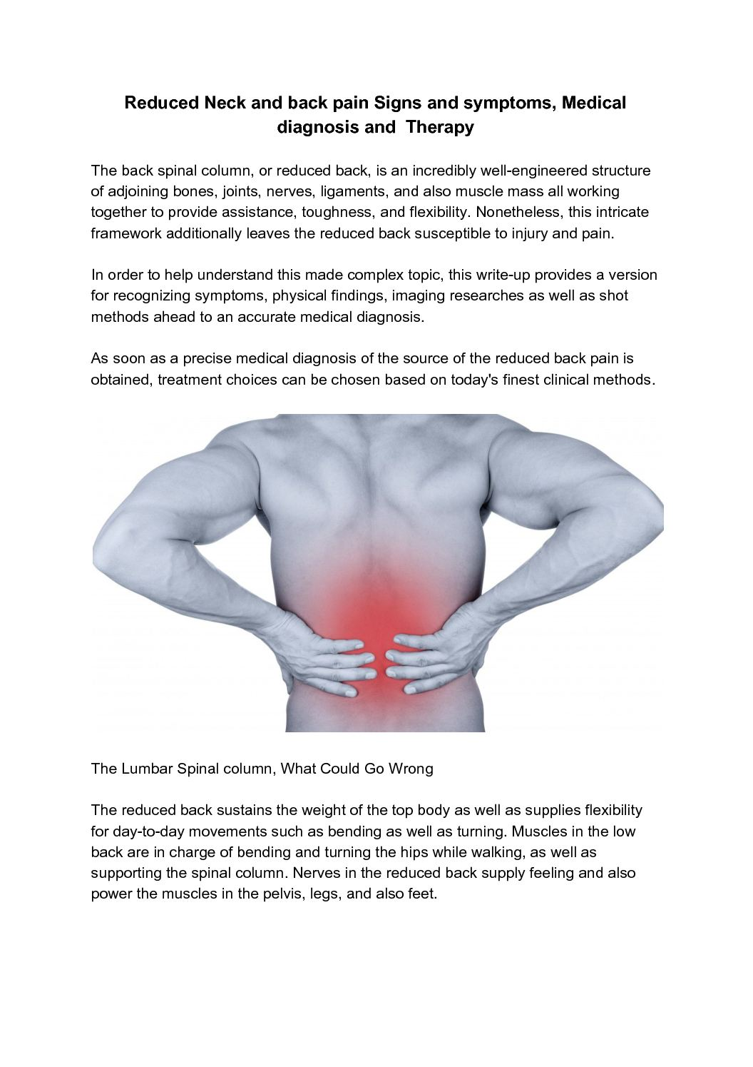Calamo Reduced Neck And Back Pain