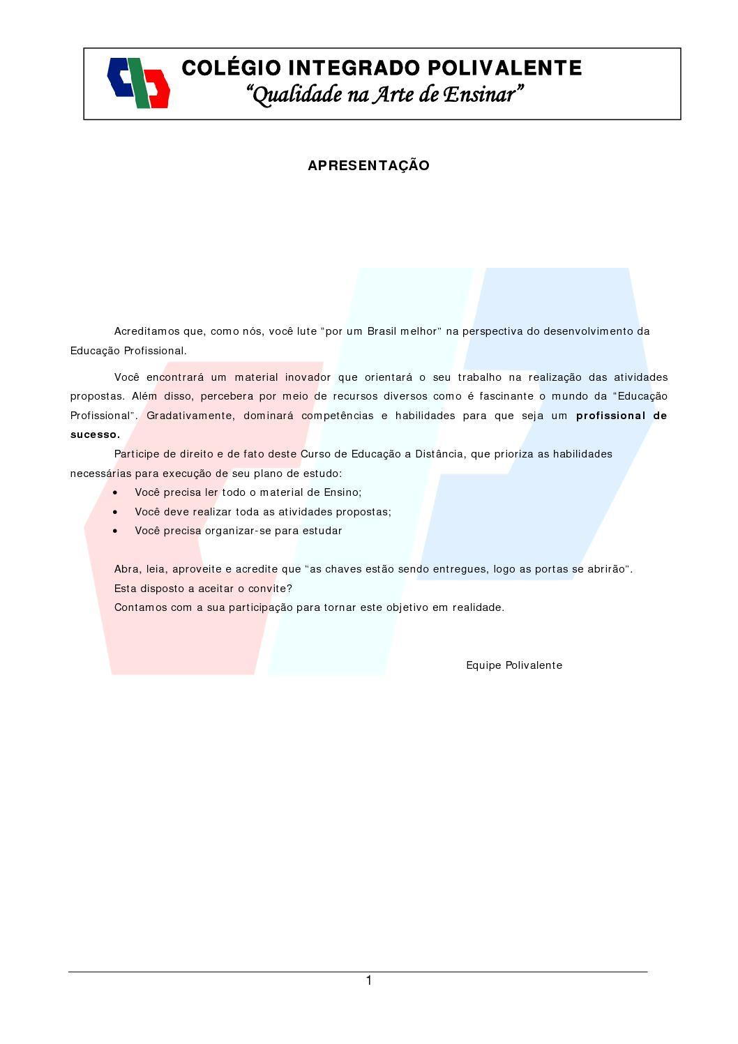 Calaméo - Cuso Eletrotécnica Colégio Integrado Polivalente - Eletronica II 20bd1e555b