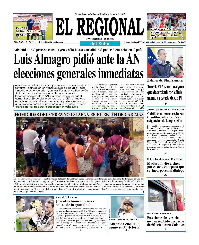 el regional del zulia 10-05-2017