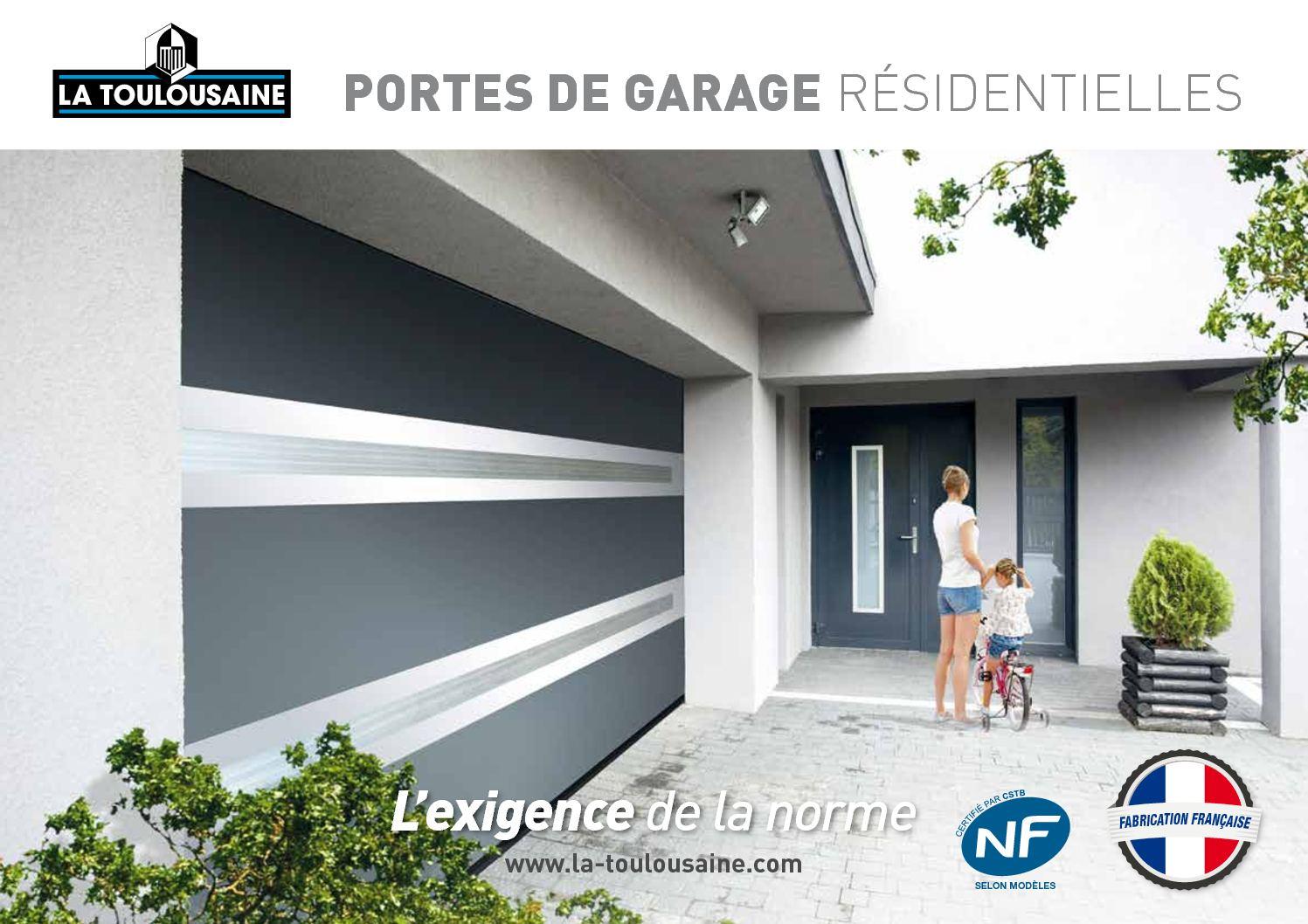 Calaméo Catalogue Portes De Garage La Toulousaine - La toulousaine porte de garage enroulable