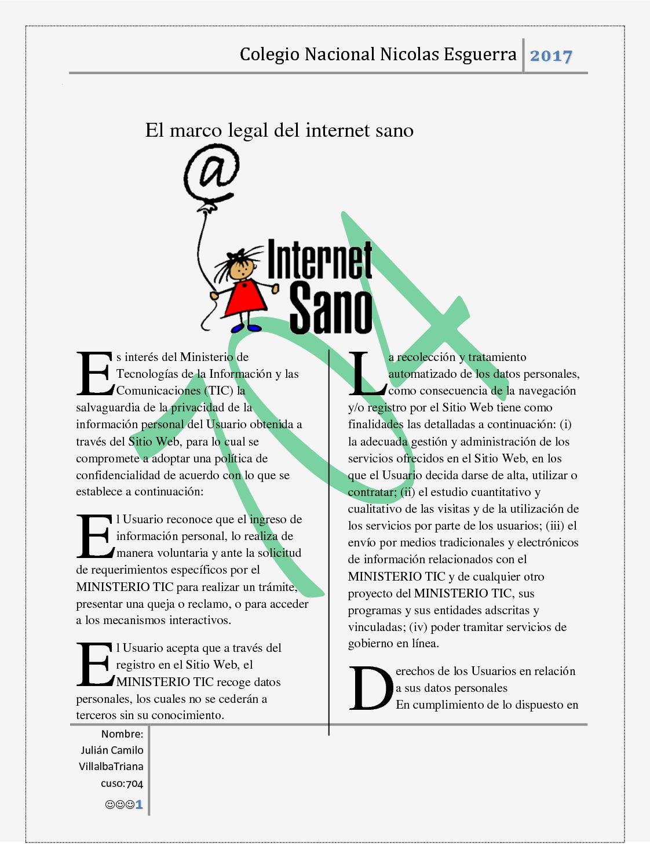 Calaméo - El Marco Legal Del Internet Sano