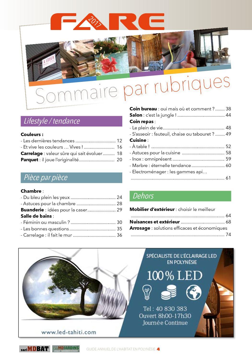 Vanite Salle Bain Bf ~ Fare 2017 Guide De L Habitat En Polyn Sie Tahiti Calameo