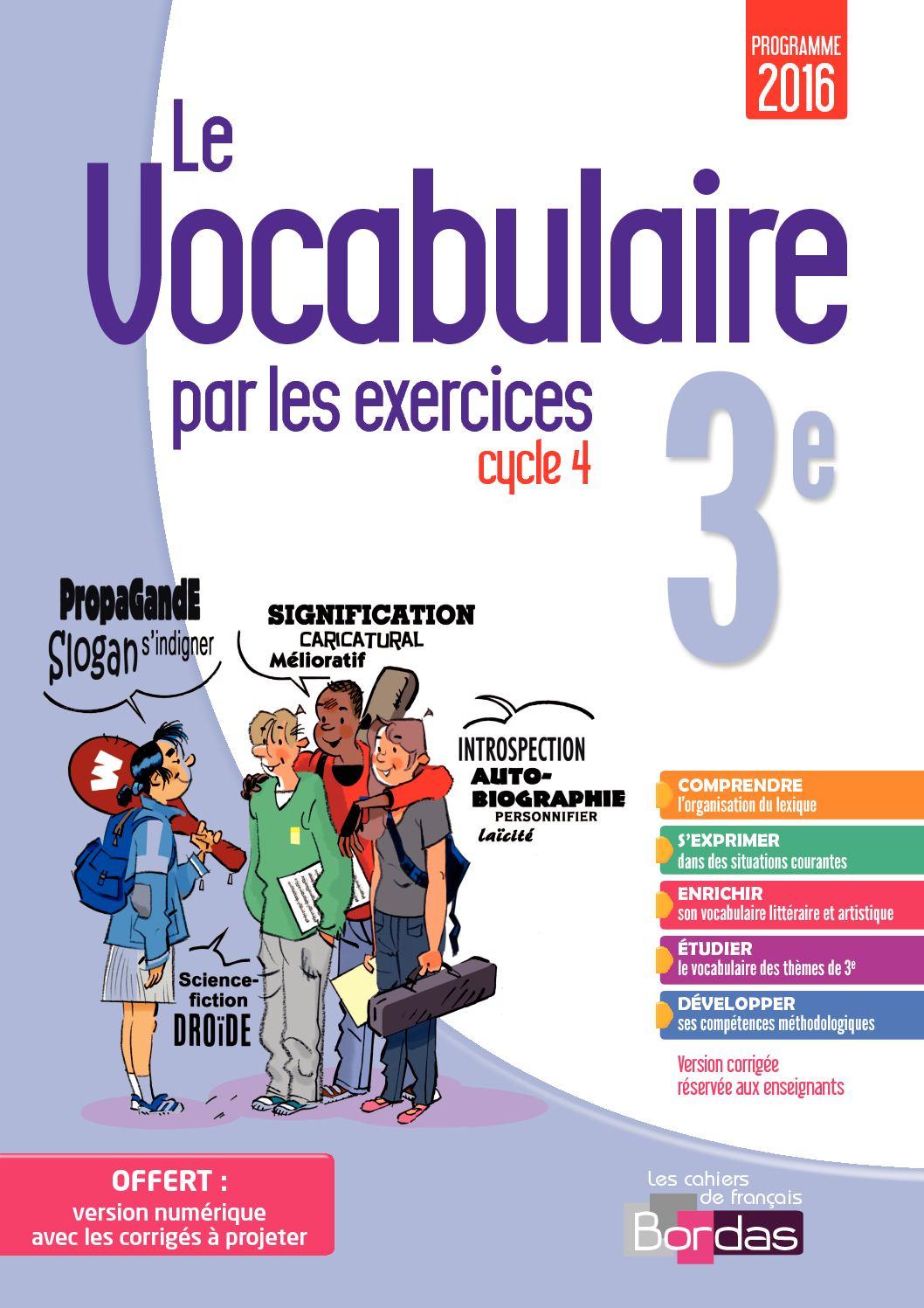 Vocabulaire par Les exercices 3e