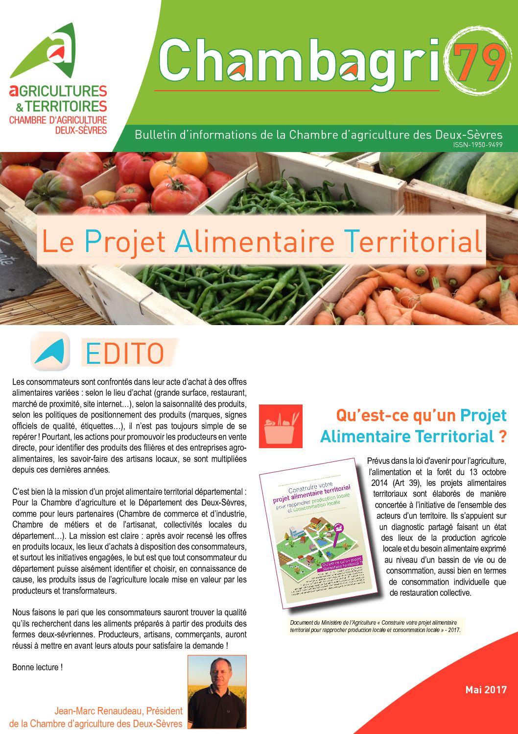 Calaméo Chambagri Mai Le Projet Alimentaire Territorial - Chambre d agriculture des deux sevres