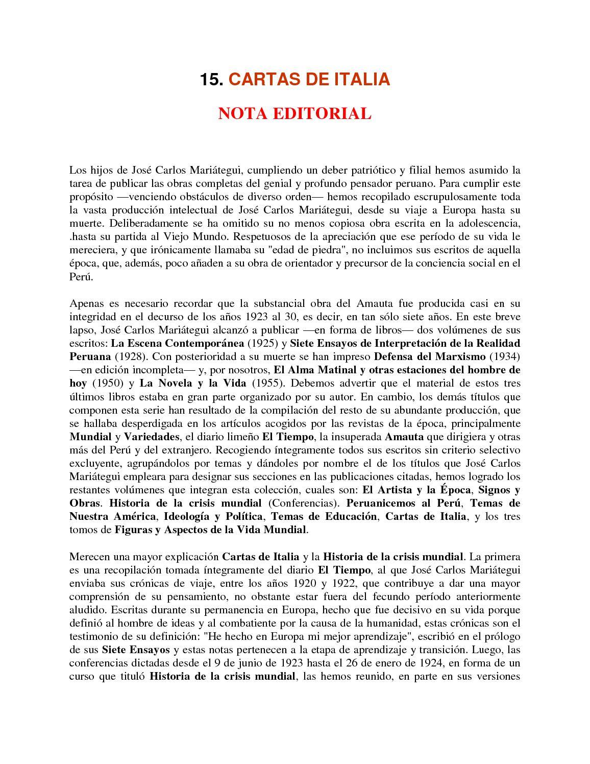 Calaméo - 15 Cartas De Italia