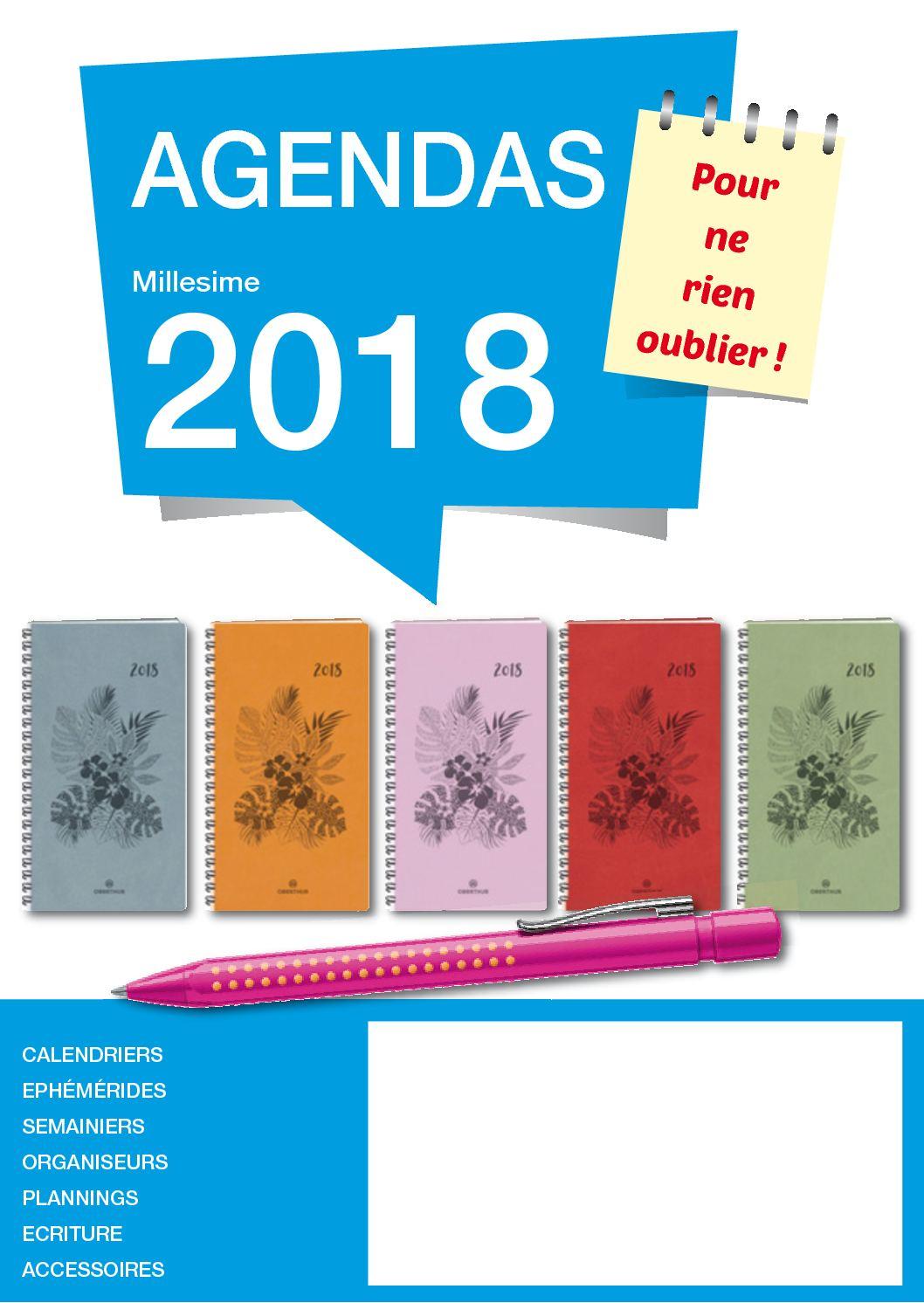 Calam o catalogue agenda 2018 for Buroplus catalogue