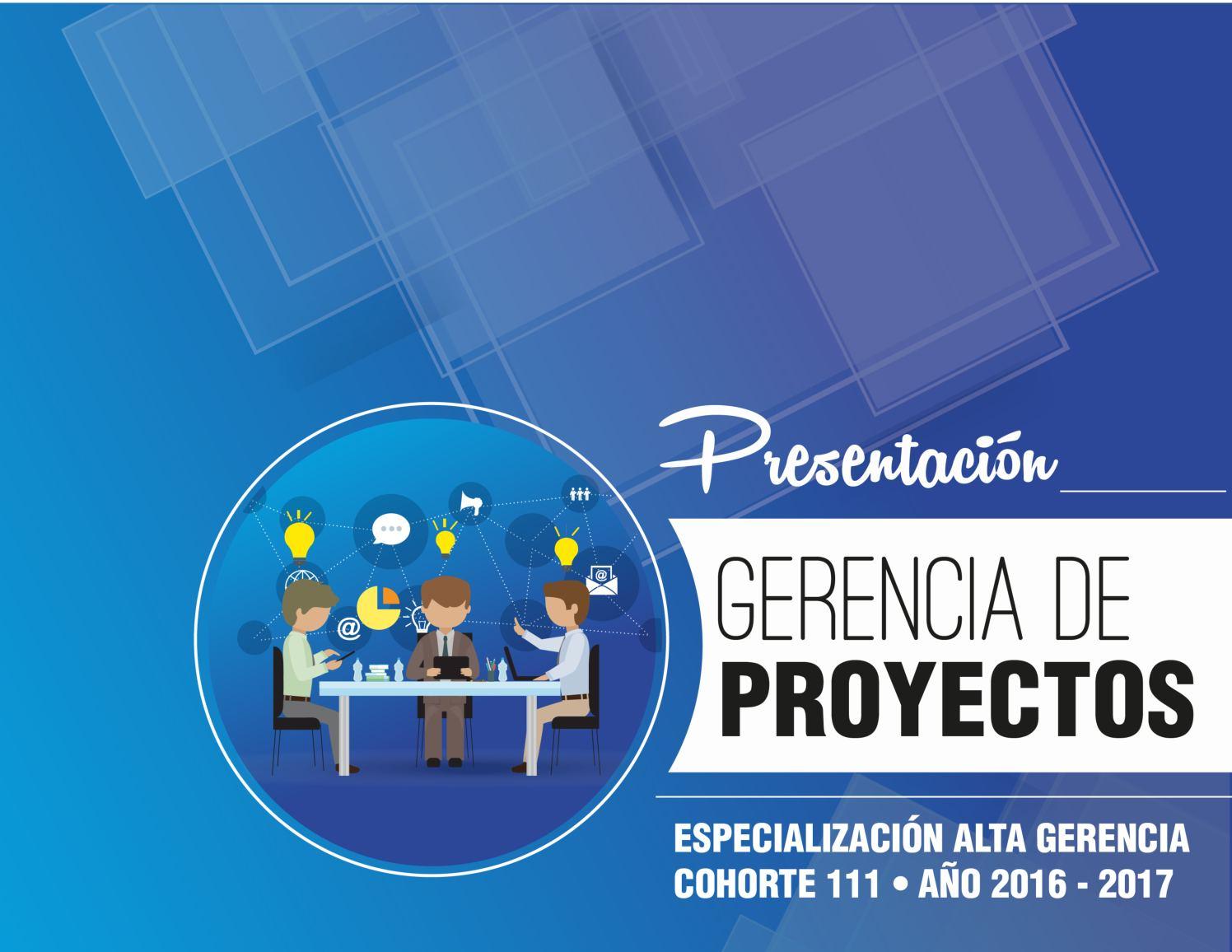 Presentacion Gerencia De Proyectos Alta Gerencia 2017 Estudiantes