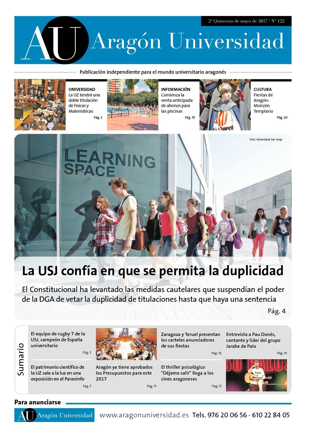 Calaméo - Aragón Universidad Nº 122