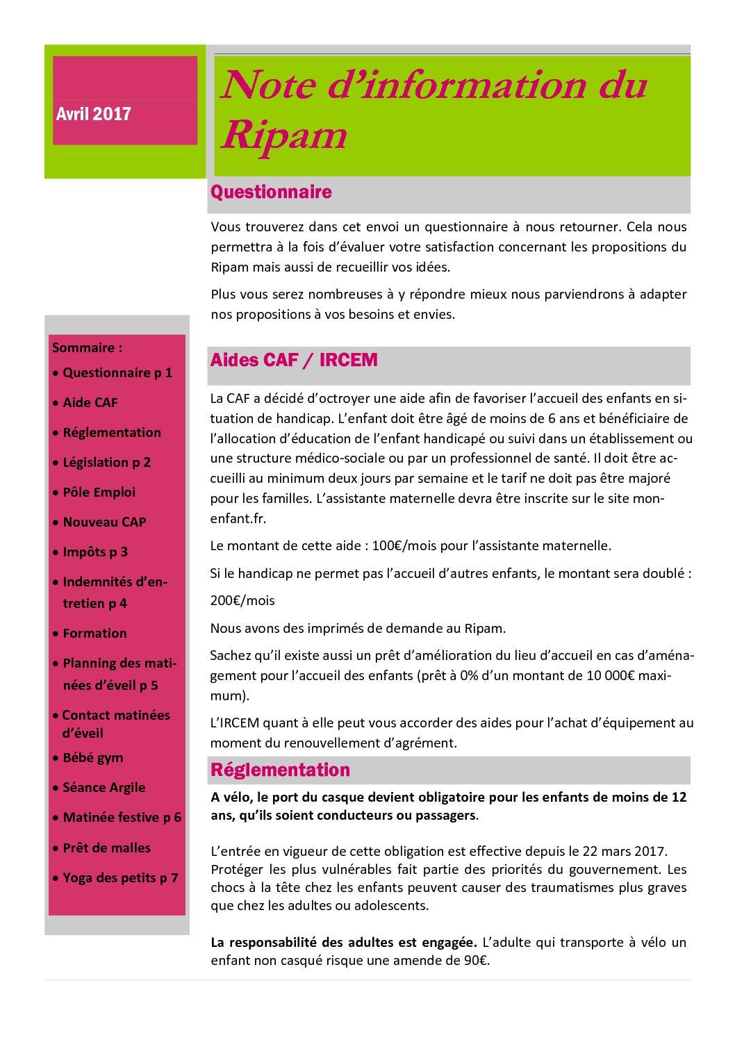 Calaméo Lettre Info Avril 2017