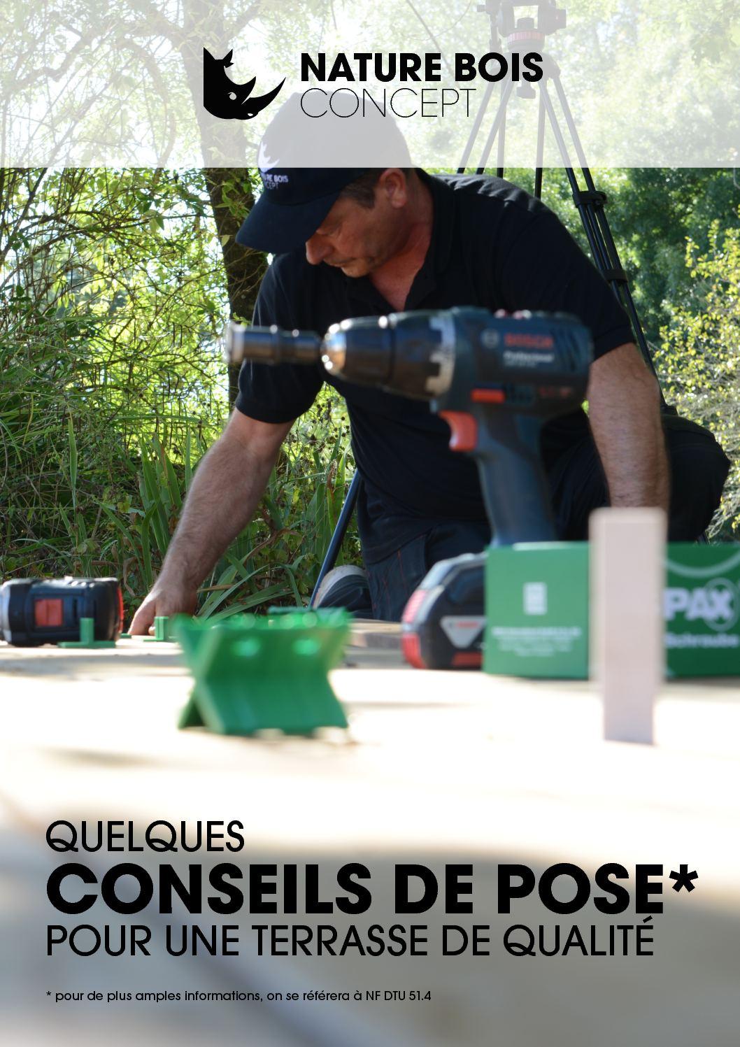 Calam o conseil de pose terrasse bois nature bois concept - Nature bois concept rochefort ...