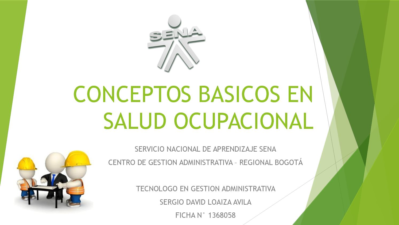 Conceptos Basicos En Salud Ocupacional Cartilla