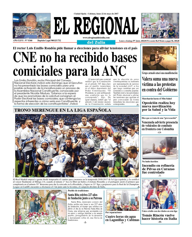 El Regional del Zulia 22-05-2017