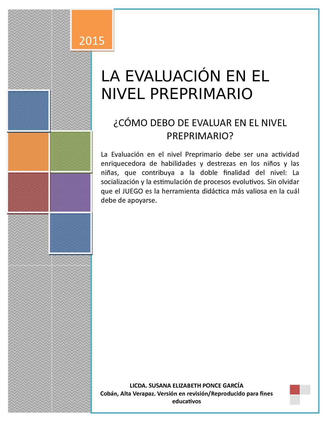 La Evaluación En El Nivel Preprimario 2