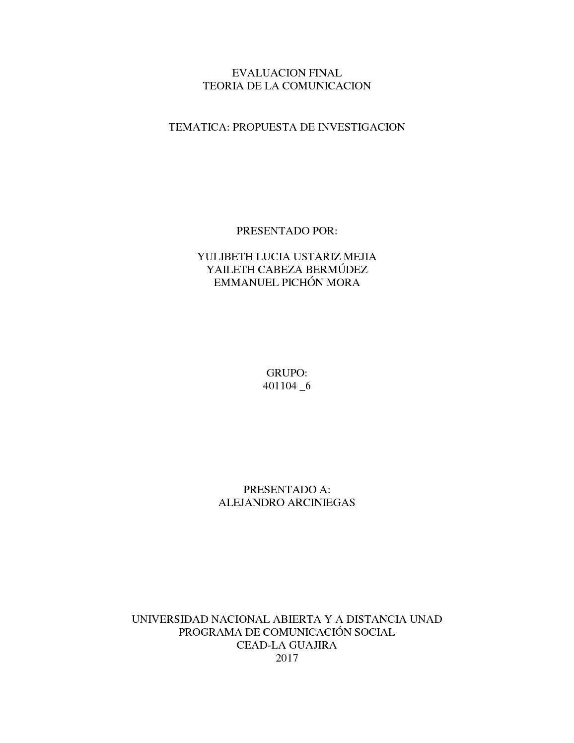 Evaluacion Final De Teoria De La Comunicacion Trabajo Colaborativo 401104 6