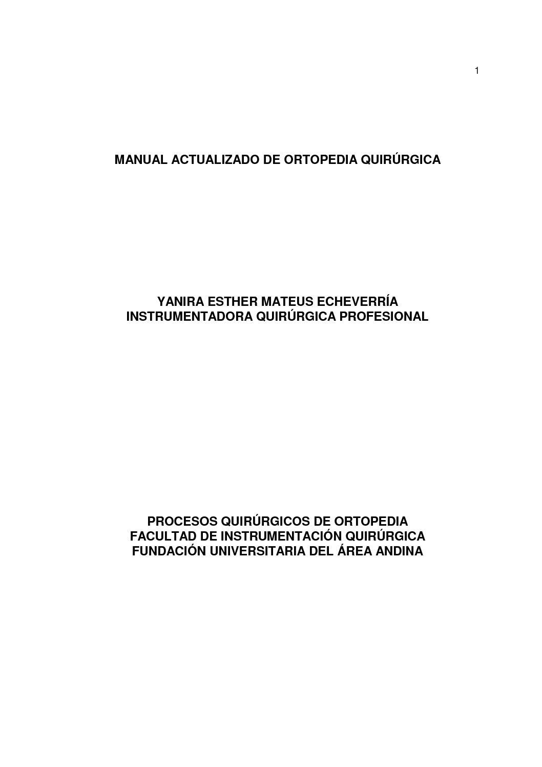 Calaméo - Manual Actualizado De Ortopedia Quirurgica 1