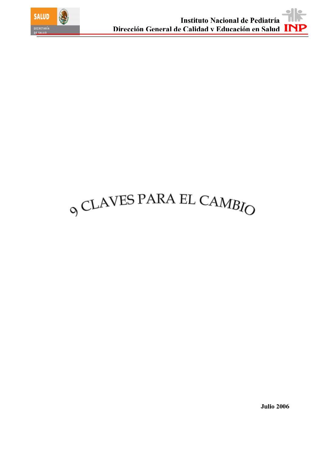Calaméo - 9 Claves Para El Cambio