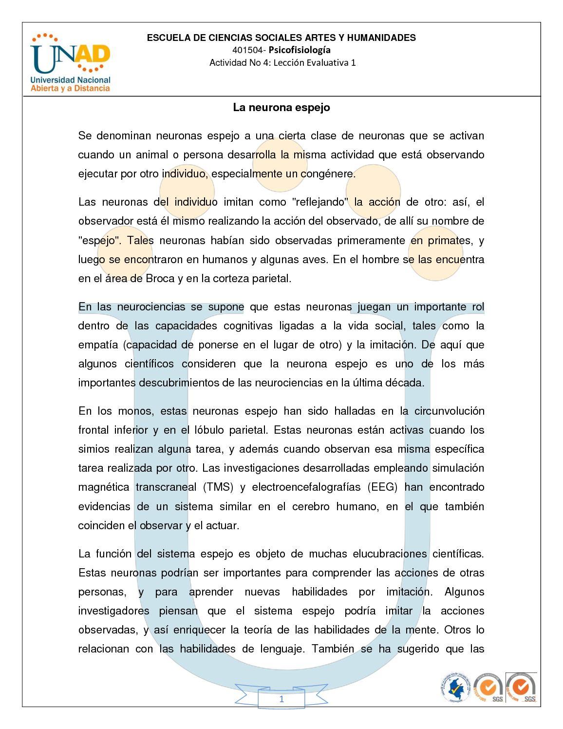 5. LA NEURONA ESPEJO