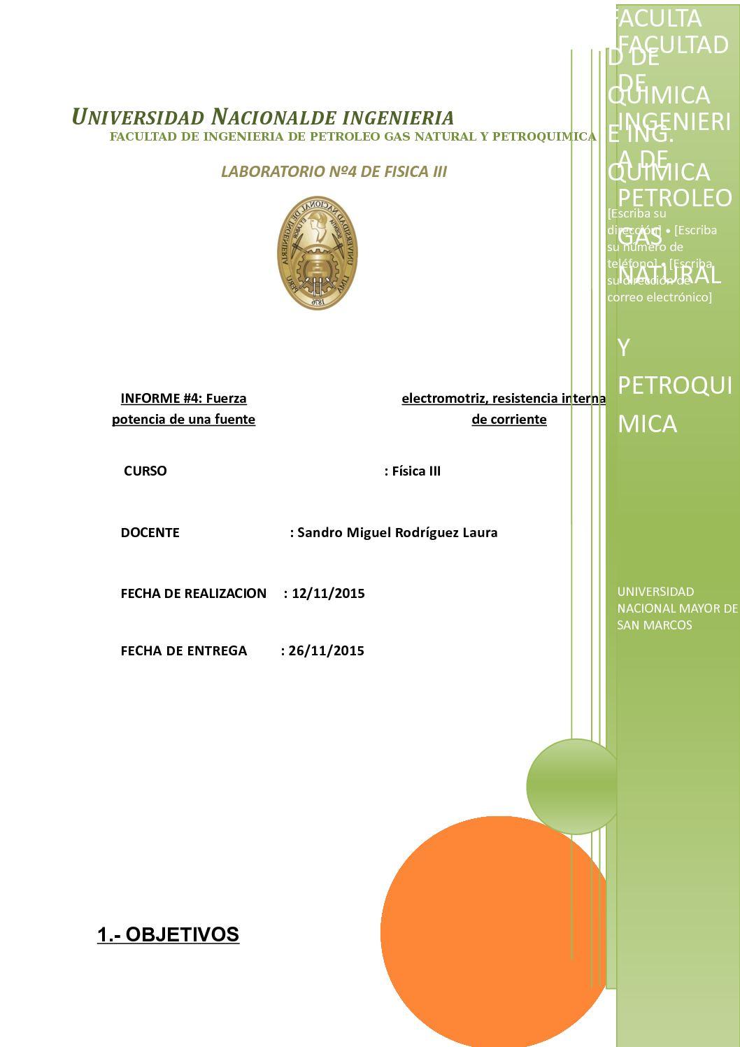Informe N° 4 Fuerza Electromotriz
