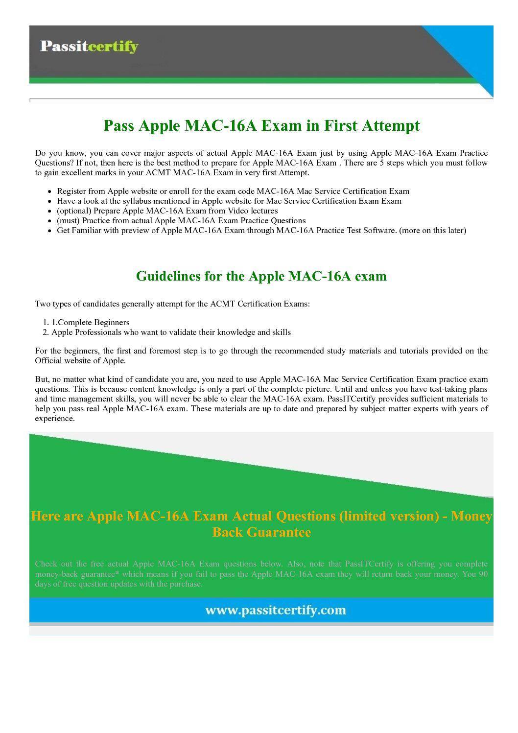 Calamo apple acmt mac 16a dumps mac service certification exam 1betcityfo Gallery