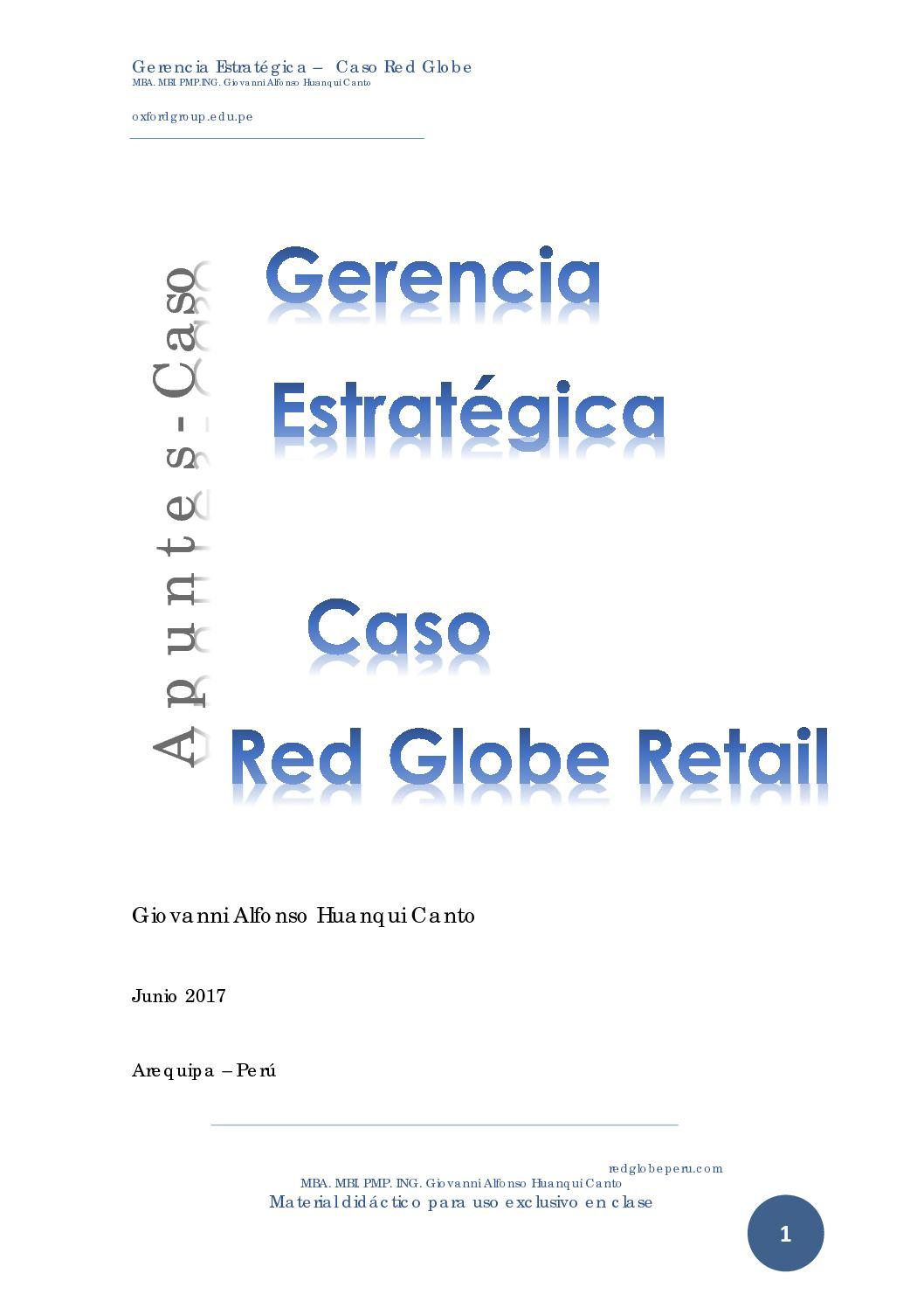 Dirección Estrategica Redglobe Caso Giovanni Alfonso Huanqui Canto  Oxford Group