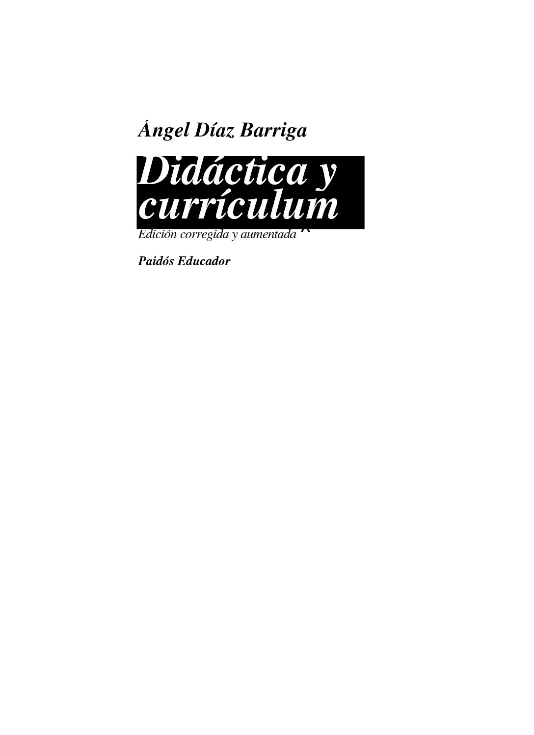 Calaméo - Angel Diaz Barriga Didactica Y Curriculum