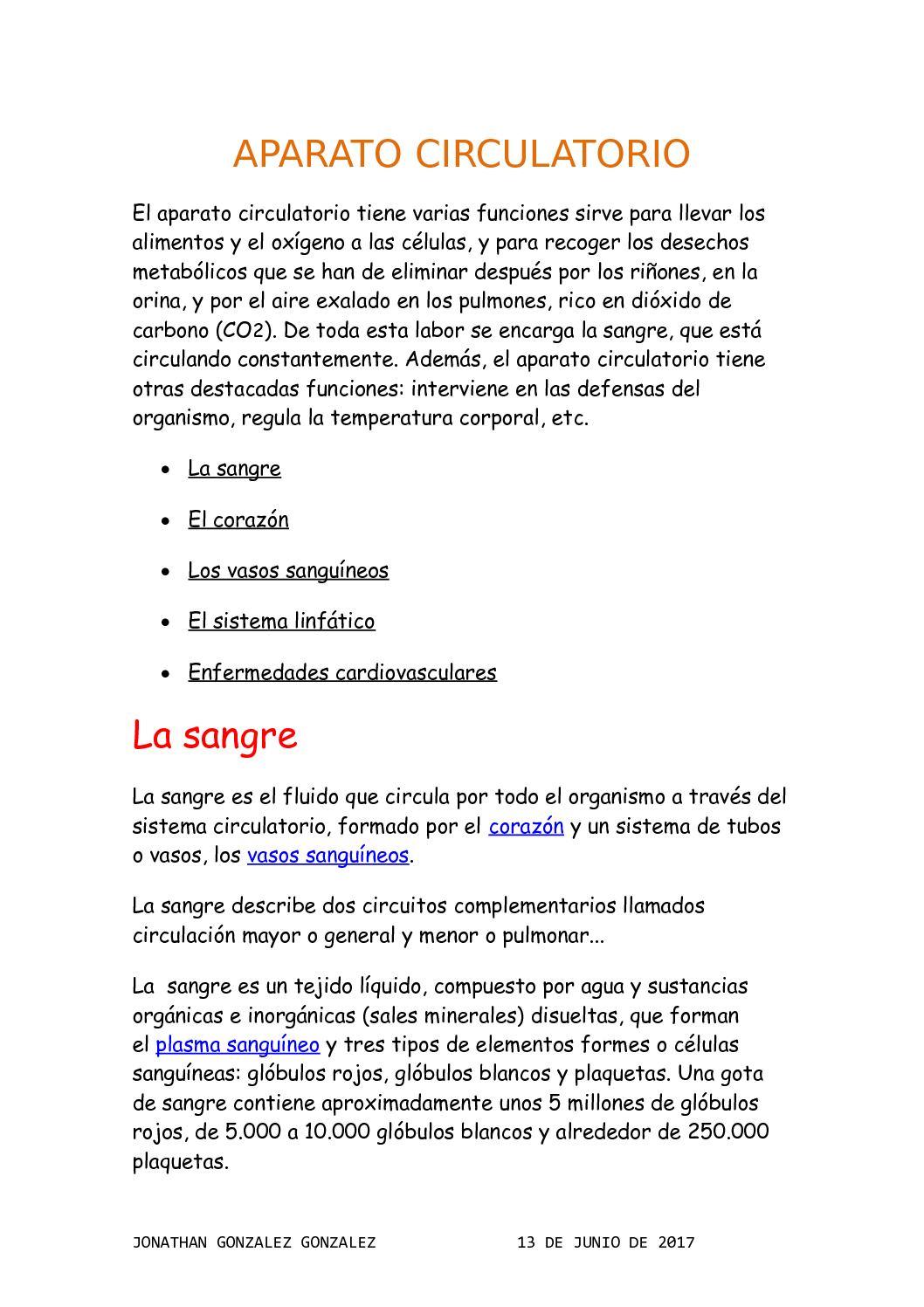 Circuito Sanguineo : Calaméo aparato circulatorio