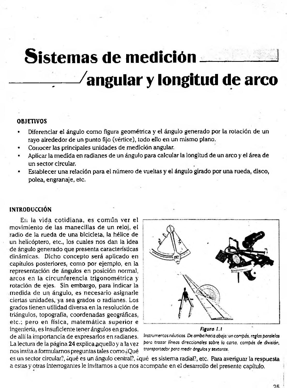 Sistema De Medición Angular Y Longitud De Arco