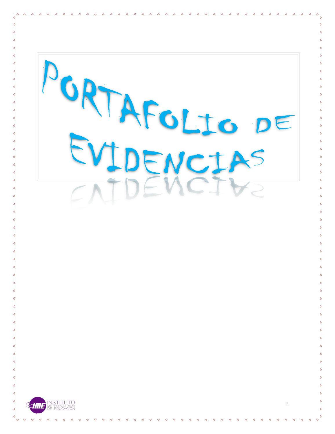 Calaméo - Portafolio De Evidencias (Definitivo)